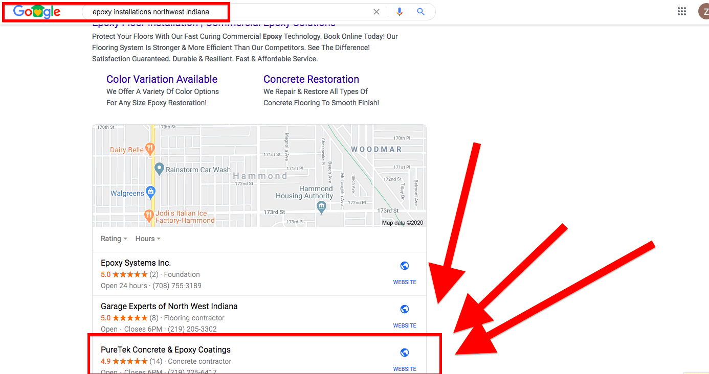 Google Search Engine Optimization Ranking #3